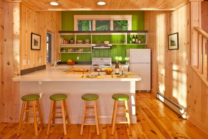 отделка стен на кухне пластиковыми панелями, фото 14