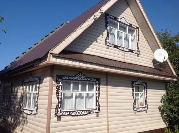 Резные наличники на окна в деревянном доме, фото 9
