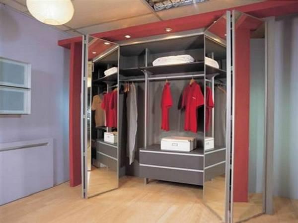 зеркальные двери в гардеробную раздвижные фото, фото 15