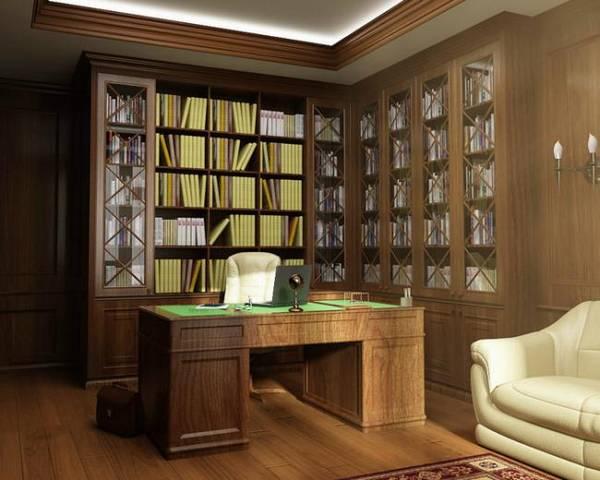 дизайн кабинета в квартире в современном стиле, фото 16