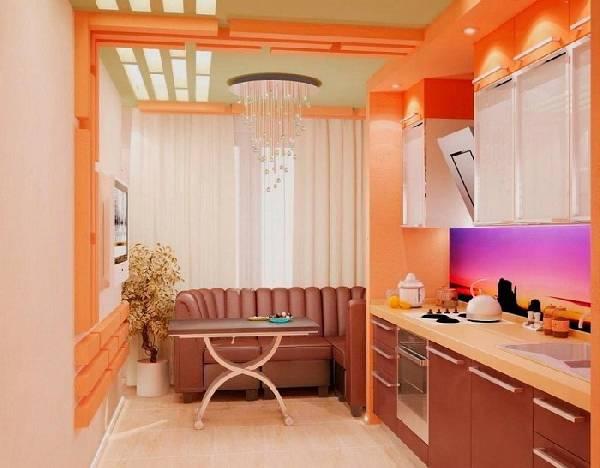 дизайн кухни с балконом 10 кв м, фото 20