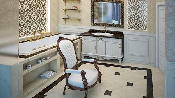 плитка для ванной в классическом стиле, фото 15
