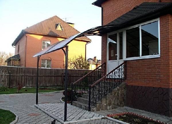 Навесы из поликарбоната в частном доме фото, фото 6