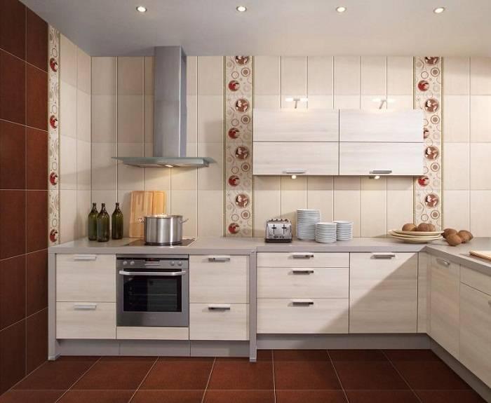 отделка стен на кухне плиткой, фото 4
