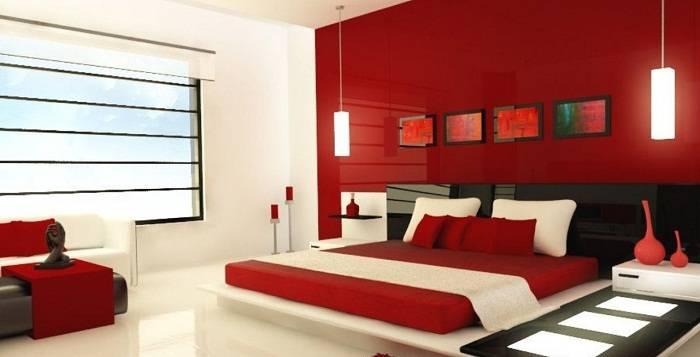 дизайн красной спальни, фото 24