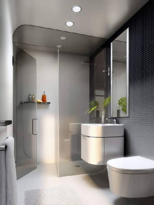 дизайн ванной комнаты совмещенной с туалетом, фото 12