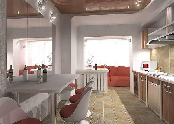 Дизайн кухни совмещенной с балконом фото 2016 современные идеи