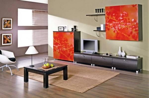 современные модульные стенки в гостиную фото, фото 17