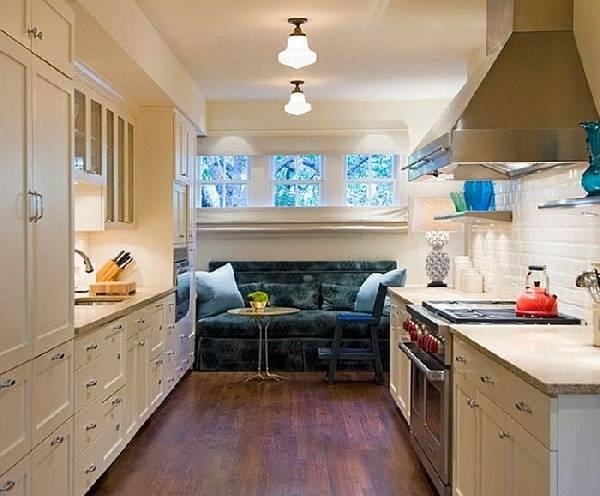 Прямой диван на кухню со спальным местом, фото 13