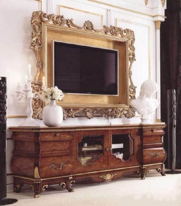 тумба под телевизор в классическом стиле, фото 29