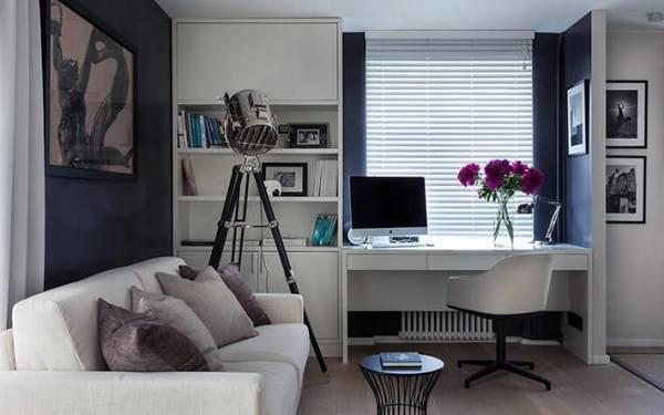 дизайн кабинета в квартире в современном стиле, фото 18