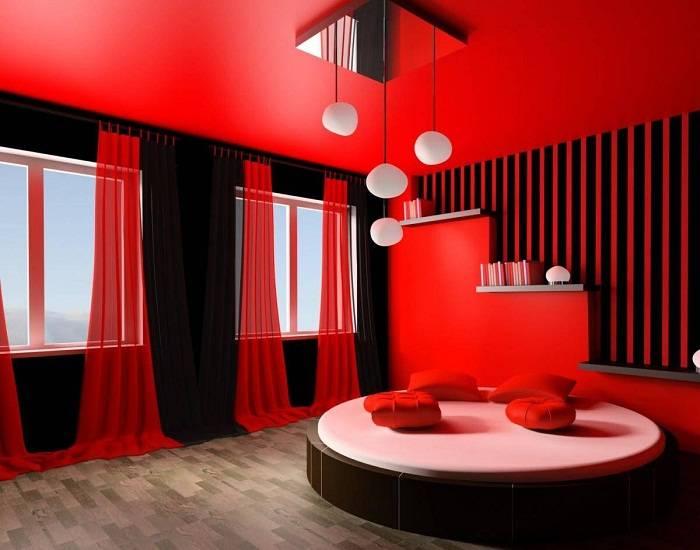 дизайн красной спальни, фото 26