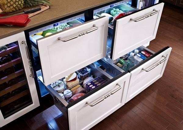 дизайн маленькой кухни с холодильником, фото 35
