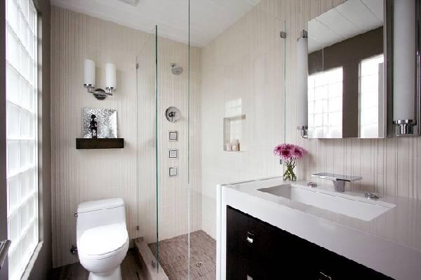 дизайн ванной комнаты с туалетом, фото 14