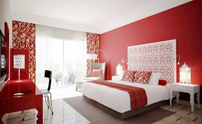 дизайн красной спальни, фото 13