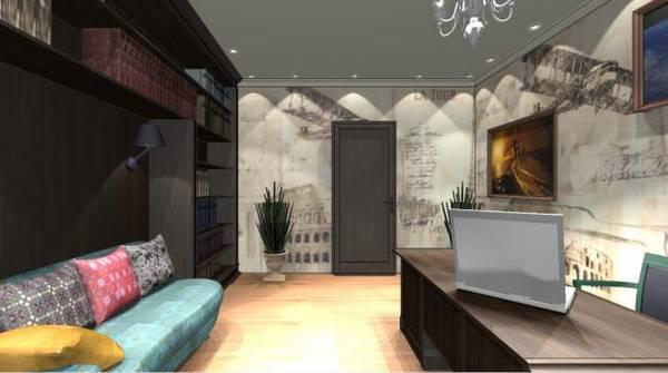 дизайн домашнего кабинета в квартире, фото 2