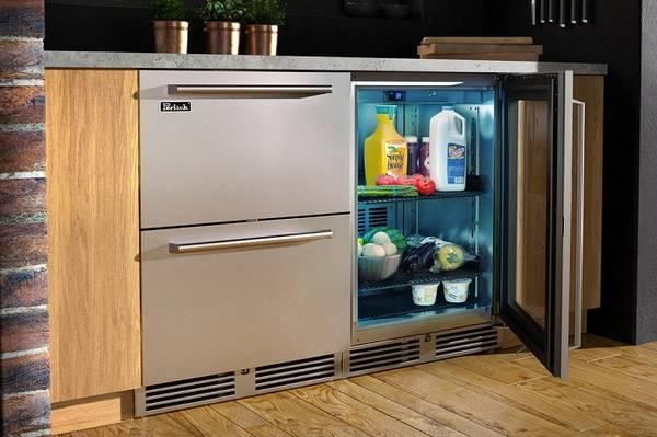 дизайн маленькой кухни с холодильником фото, фото 36