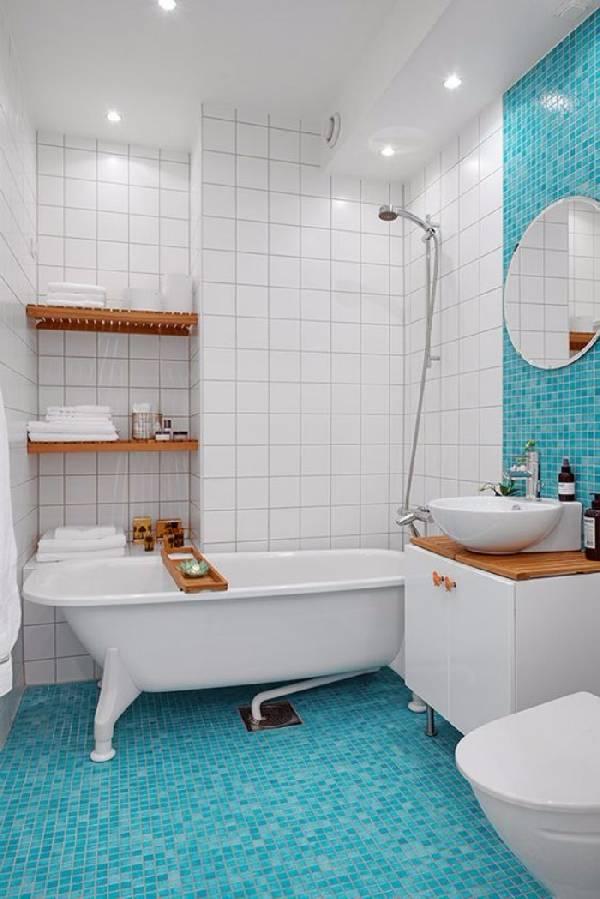 дизайн маленькой ванной комнаты совмещенной с туалетом, фото 15
