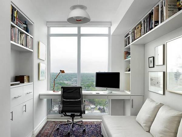 дизайн кабинета в квартире в современном стиле, фото 20