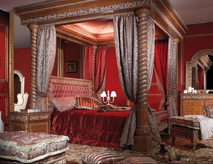 спальня в красном цвете дизайн фото, фото 5