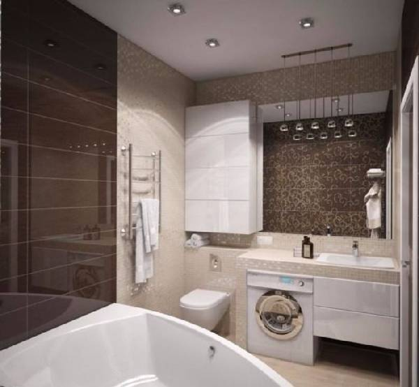 дизайн ванной комнаты с туалетом фото, фото 16