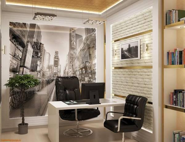 дизайн комнаты кабинета в квартире, фото 21
