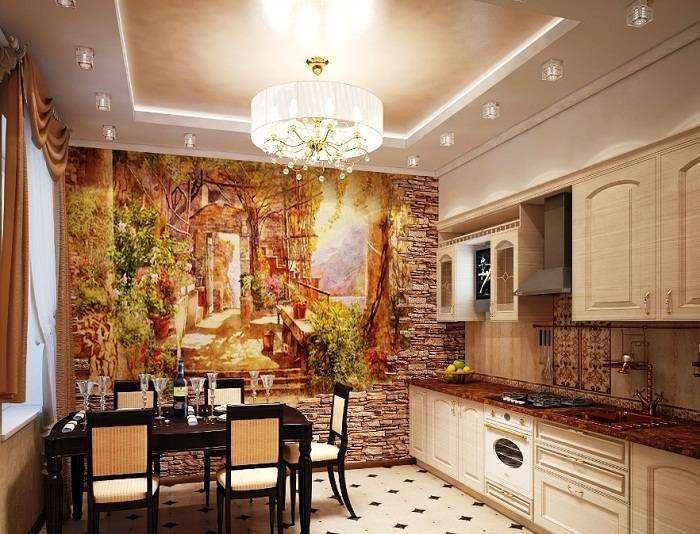 современная отделка стен на кухне фото, фото 21