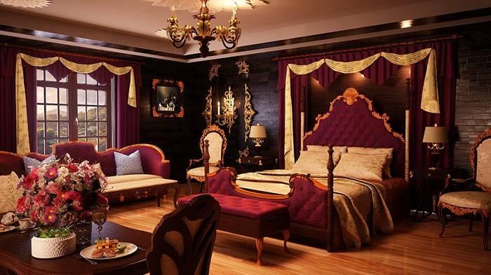 спальня в красных тонах дизайн, фото 6