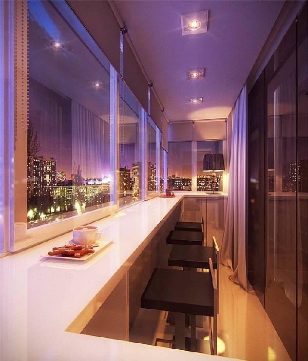 объединение балкона с кухней, фото 15