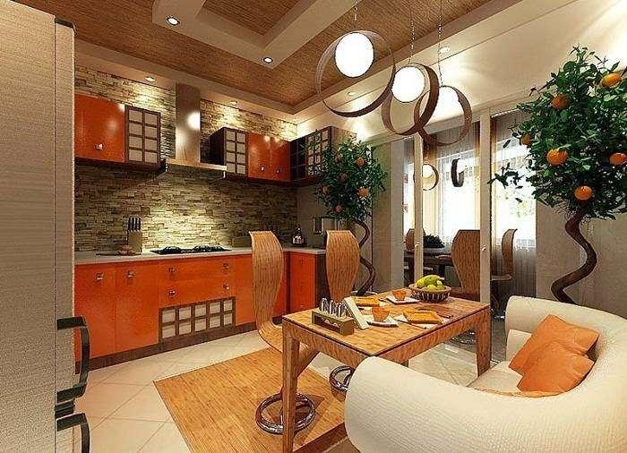 идеи отделки стен на кухне, фото 22