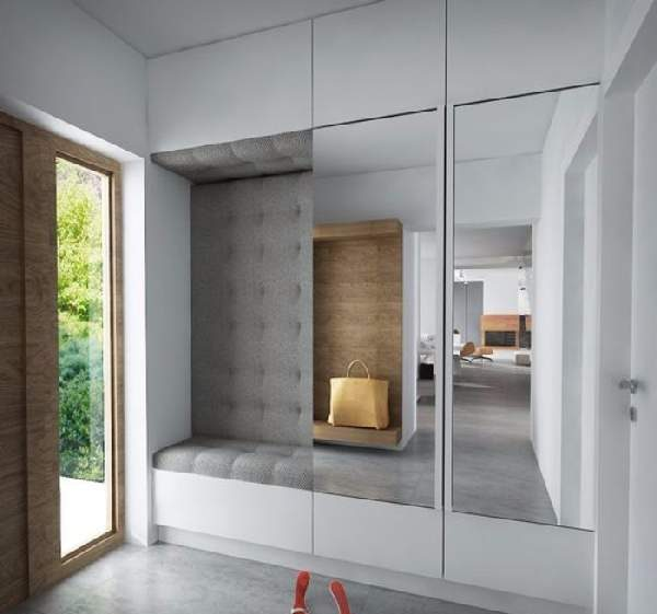 шкафы купе в прихожую встраиваемые с зеркалом, фото 14