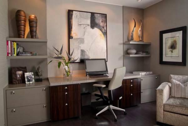 дизайн комнаты кабинета в квартире, фото 23