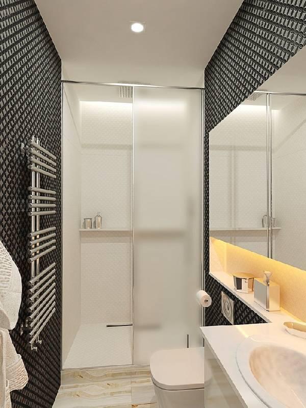 раздвижные стеклянные двери в душ, фото 15