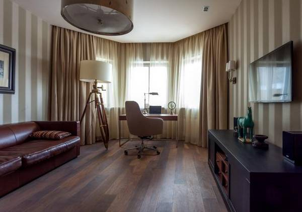 дизайн комнаты кабинета в квартире, фото 24