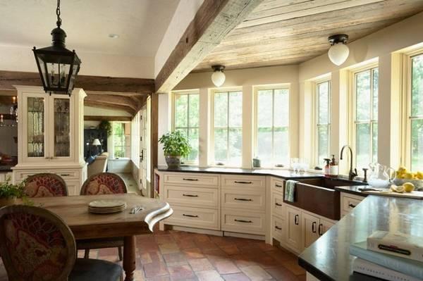 интерьер кухни с эркером фото, фото 25