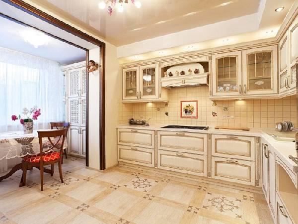 дизайн кухни совмещенной с балконом, фото 24