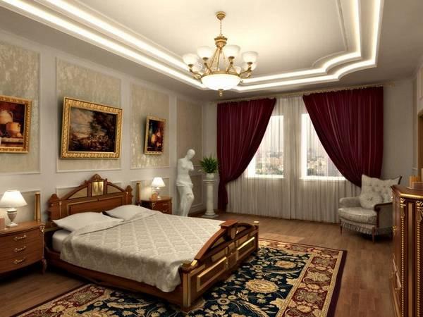 классические люстры для спальни, фото 19