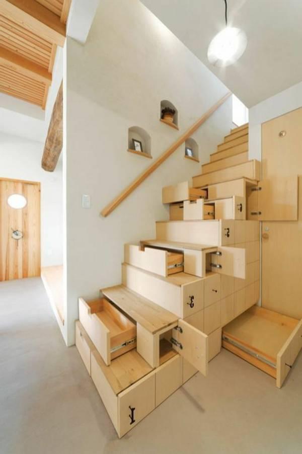 выдвижной шкаф под лестницей, фото 21