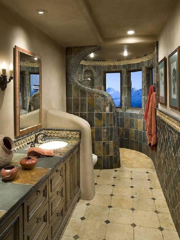 дизайн ванной совмещенной с туалетом, фото 20