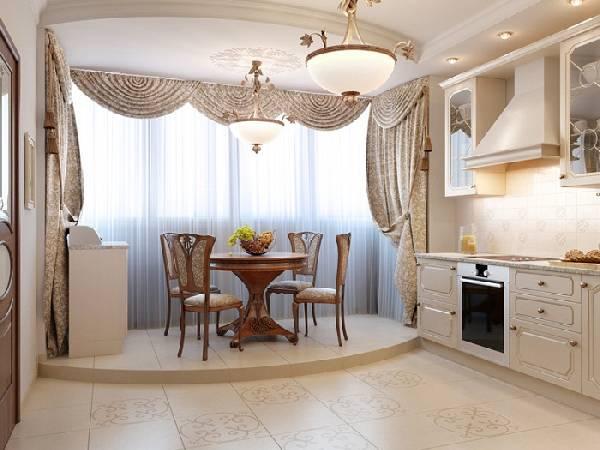 интерьер кухни с балконом, фото 25