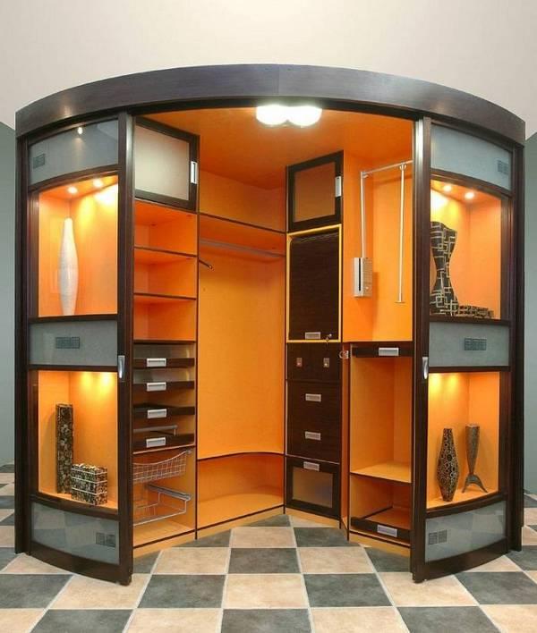 радиусные раздвижные двери для гардеробной, фото 25
