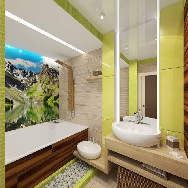 дизайн ванной комнаты с туалетом и стиральной машиной, фото 26