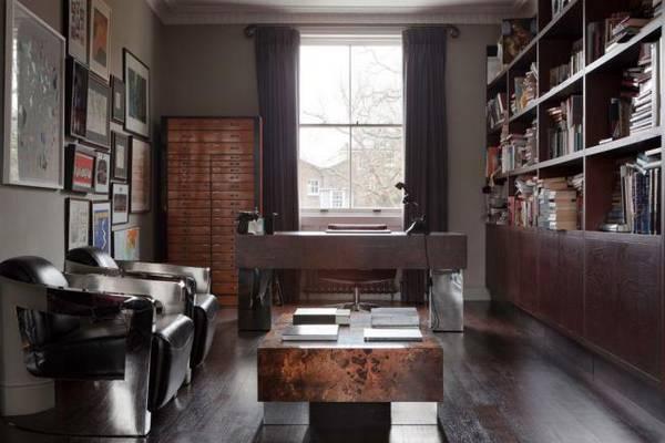 дизайн комнаты кабинета в квартире фото, фото 26