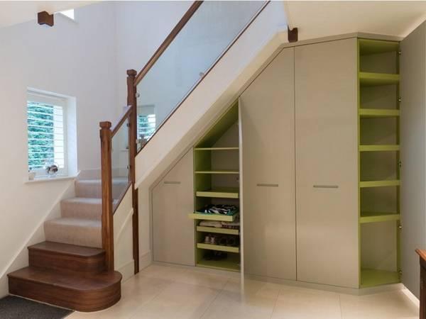 дизайн шкафа под лестницей, фото 22