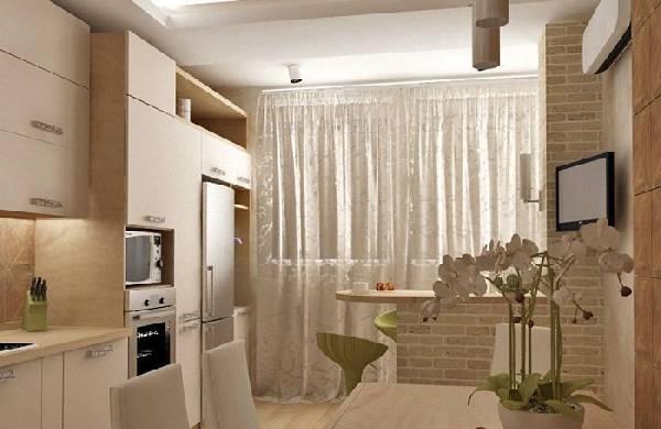 как соединить балкон с кухней, фото 26