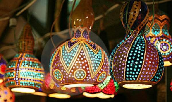 мозаичные светильники в восточном стиле, фото 28