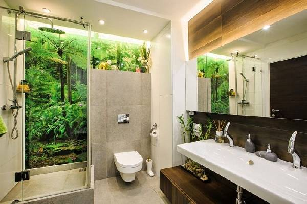 дизайн узкой ванной комнаты совмещенной с туалетом, фото 27