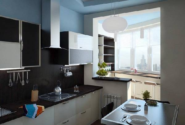 кухня с балконом дизайн фото, фото 27