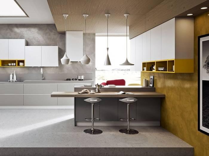 отделка стен на кухне, фото 27