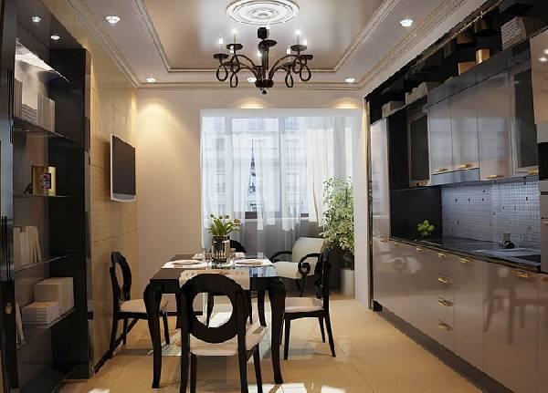 кухня соединенная с балконом, фото 28
